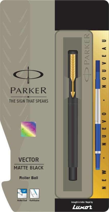Parker Vector Matte Black GT Roller Ball Pen