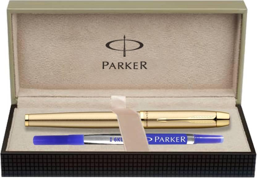 Parker IM Gold Brushed Metal GT Roller Ball Pen