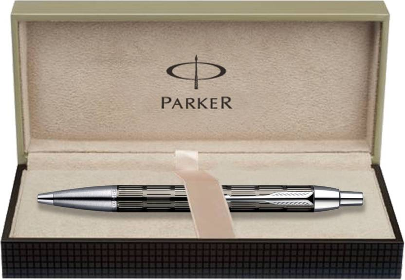 Parker IM Metal Twin Chiselled GT Ball Pen