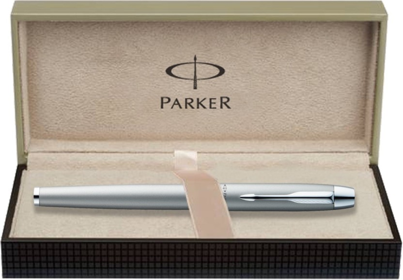 Tin Box Chrome Plated Clip PARKER Frontier Stainless Steel CT Fountain Pen