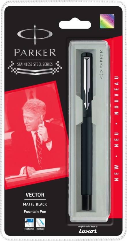 Parker Vector Matte Black Fountain Pen