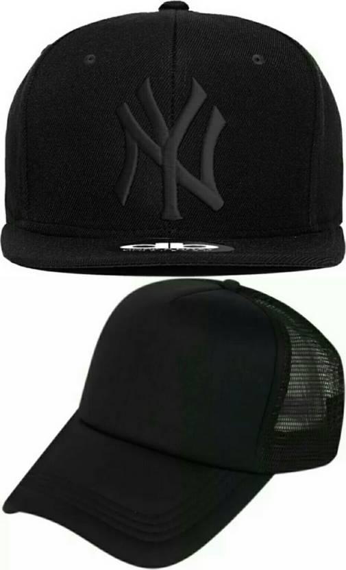 Friendskart Self Design 2 Caps Ny Hip Hop And Half Net In Baseball Style Cap  Cap (Pack of 2) 6c2f4438446