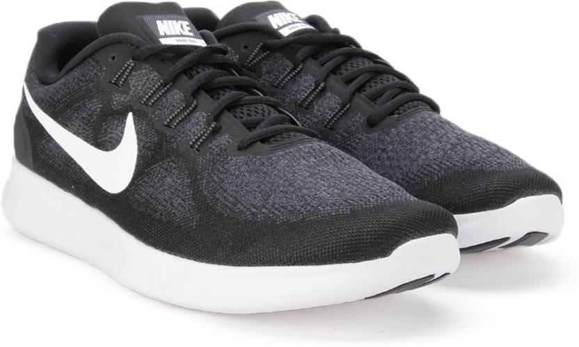 nike libera nel 2017, scarpe da corsa per gli uomini comprano nero / bianco grigio scuro