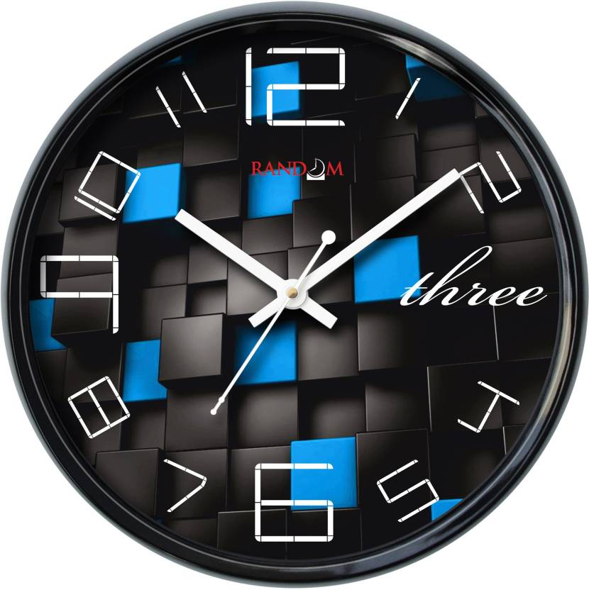 Random Analog 28 cm Dia Wall Clock