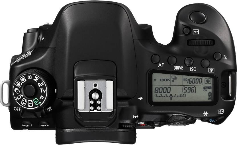 Canon EOS 80D W  DSLR Camera  Body Only   16   GB SD Card  Black  Canon DSLR   Mirrorless