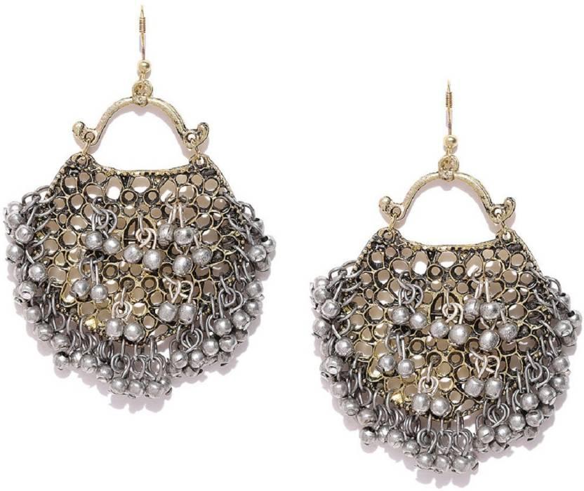 ea286c19b Flipkart.com - Buy Infuzze Infuzze Oxidised Silver-Toned Drop Earrings  Alloy, Metal Drop Earring Online at Best Prices in India