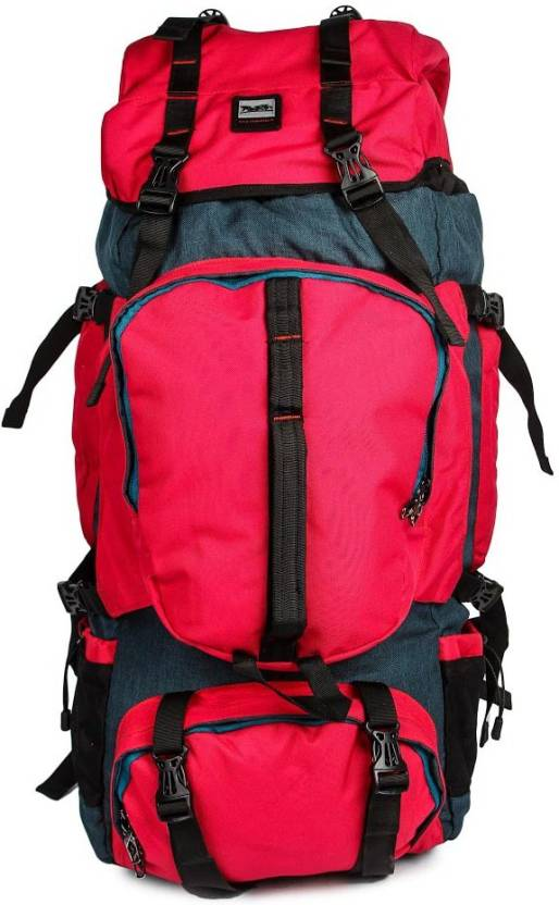 Redan Multicolor Hiking Trekking And Travelling Bag With Rain Cover Rucksack 60 L