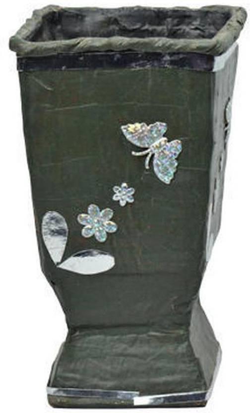 Waste Craft Cardboard Flower Vase Decorative Showpiece 20 Cm Price
