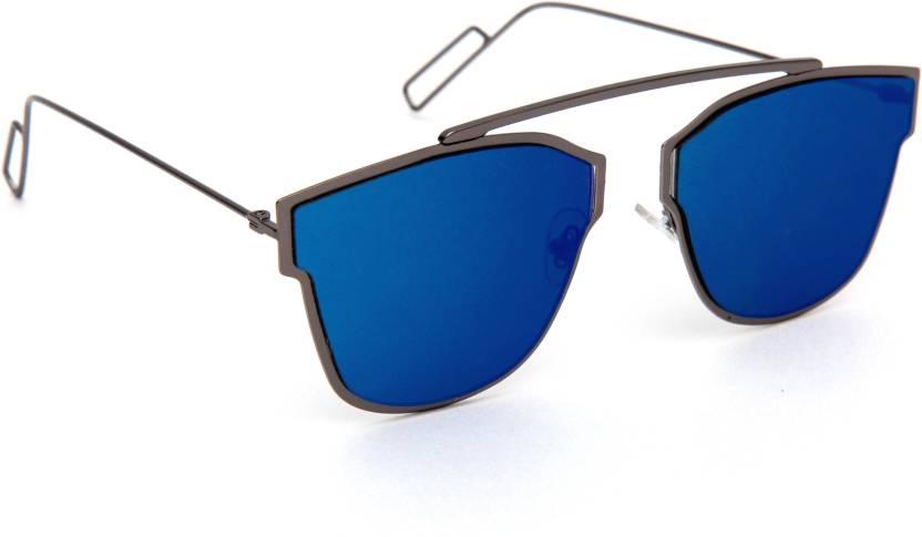 89777f8044 Buy TheWhoop Aviator Sunglasses Blue For Men   Women Online   Best ...