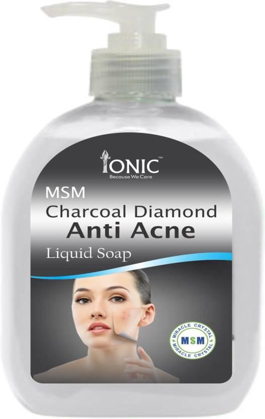 Ionic MSM Charcoal Anti Acne Liquid Soap: Buy Ionic MSM