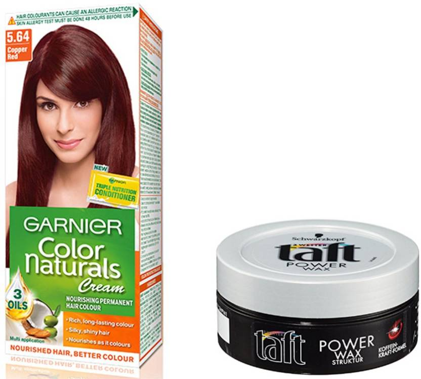 Garnier Copper Red Hair Colour With Schwarzkopf Hair Wax Price In