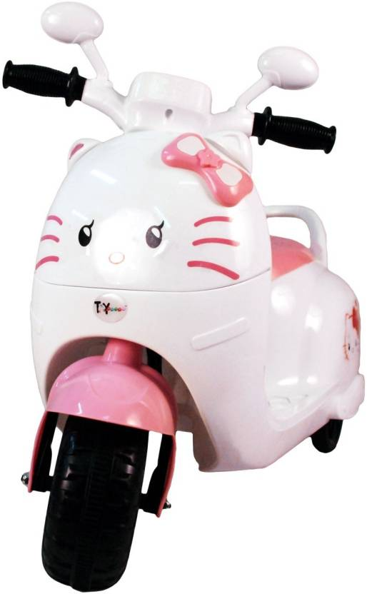fe3dfbfbd Toyhouse Kitty Scooty Rechargeable Bike Battery Operated Ride On (Pink)