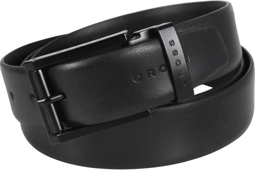 9117dbc0ae68 Cross Men Formal Black Genuine Leather Belt Black - Price in India ...