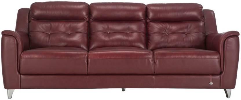 Sensational Durian Patrick 3 Leather 3 Seater Sofa Price In India Buy Evergreenethics Interior Chair Design Evergreenethicsorg
