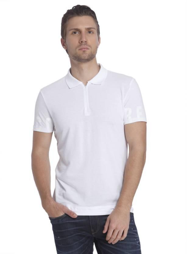 Buy White Men's Polo Jones Neck Shirt Printed Jack T amp; FnvYqxz