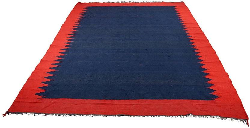 Hashtag Red Blue Cotton Area Rug Buy Hashtag Red Blue Cotton