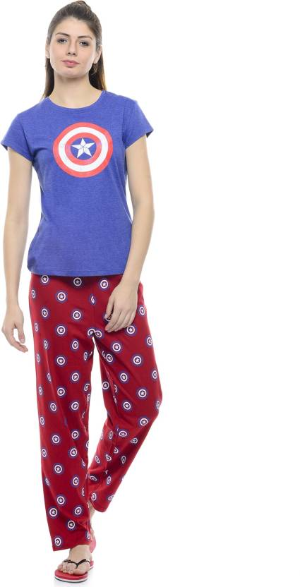 7b288a6d7e3d CAPTAIN AMERICA Women Graphic Print Red Top & Pyjama Set Price in India -  Buy CAPTAIN AMERICA Women Graphic Print Red Top & Pyjama Set at  Flipkart.com Top ...