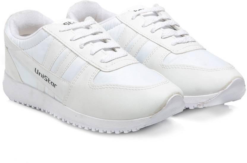 94d9eb44e68948 Unistar 032 Jogging (Narrow Toe) Running Shoes For Men - Buy White ...