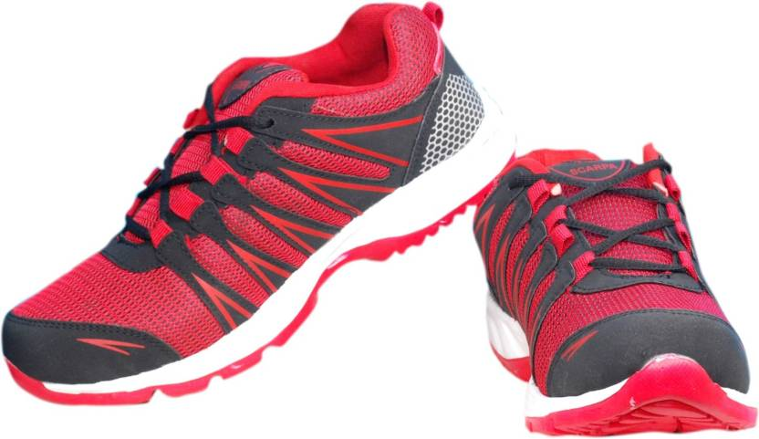 buy popular ec4ca 2a8cb The Scarpa Marco Running Shoes For Men (Red, Black)