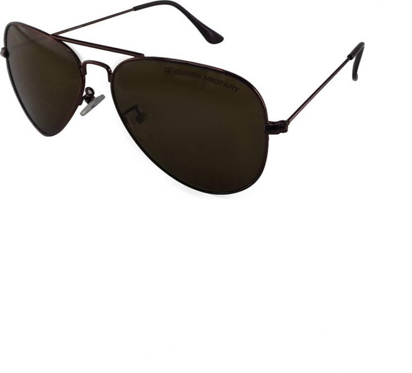 Buy Swiss Military Aviator Sunglasses Brown For Men   Women Online ... 84ca790d3f