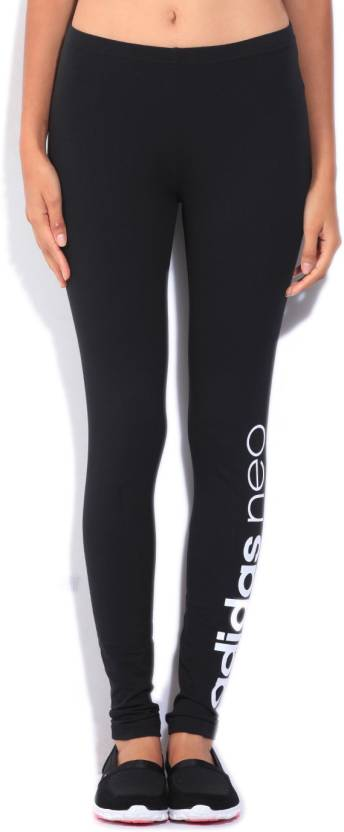 947040cd56811 ADIDAS NEO Solid Women's Tights - Buy BLACK/WHITE ADIDAS NEO Solid ...