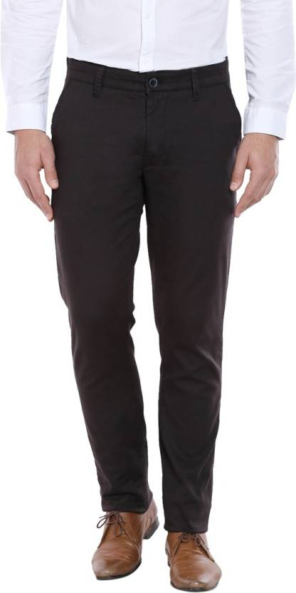 78bc6d42af2 Oxemberg Slim Fit Men Black Trousers - Buy Black Oxemberg Slim Fit Men  Black Trousers Online at Best Prices in India