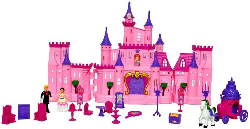 Toyshine Big Size Castle Doll House With Accessories Musical