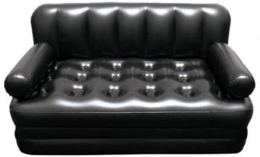Lovato Airsofa Bed 5 In 1 Pvc Air Multipurpose Black Pp Doublebed Kids Sleeping Mattress