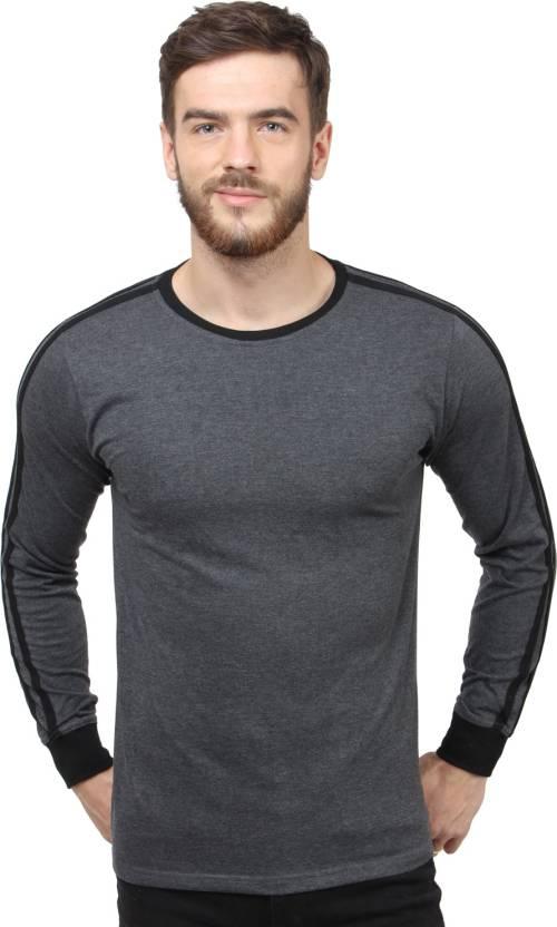 SayItLoud Solid Mens Round Neck Black, Black T-Shirt