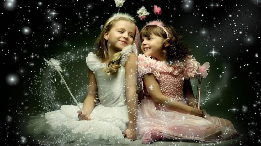 689cced8796 Mntc Two Little Angel cute baby girls Poster (Paper Print, 31cm x ...