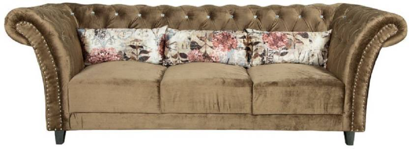 Parin Fabric Sectional Golden Sofa Set