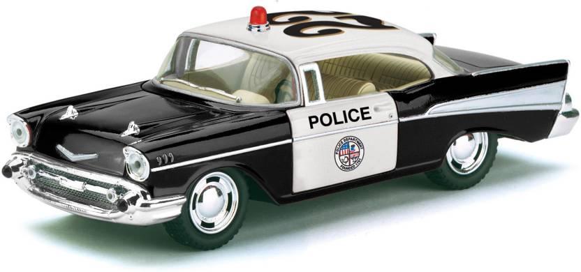 Kinsmart 140 Scale 1957 Chevrolet Bel Air Police Car Toys For Kids