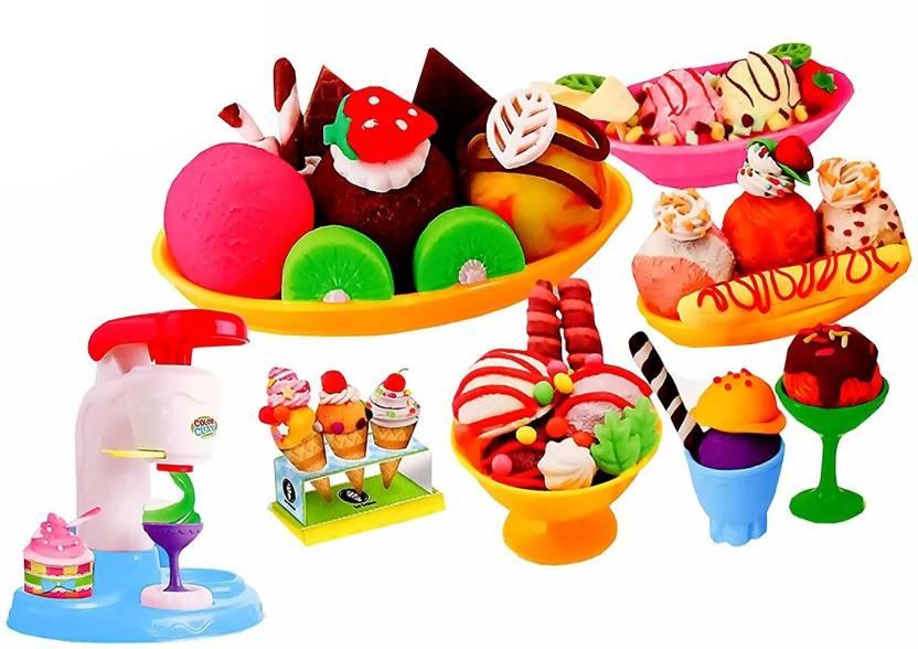 Toyshine Diy Ice Cream Clay Play Set Toy Make Fancy Clay Ice Cream