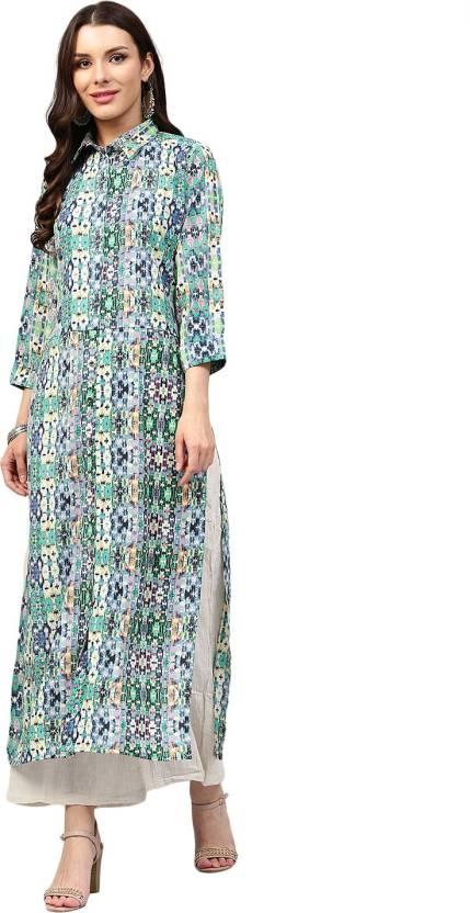 677a6d7ed01 Libas Women s Abstract Straight Kurta - Buy Multicolor Libas Women s ...