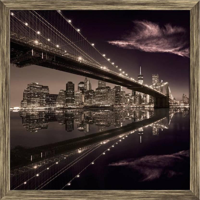 Artzfolio Brooklyn Bridge Sunset New York Manhattan Skyline