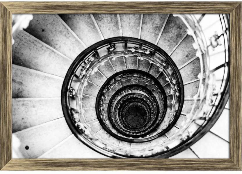 Artzfolio Spiral Staircases Form A Spiral Framed Wall Art Painting
