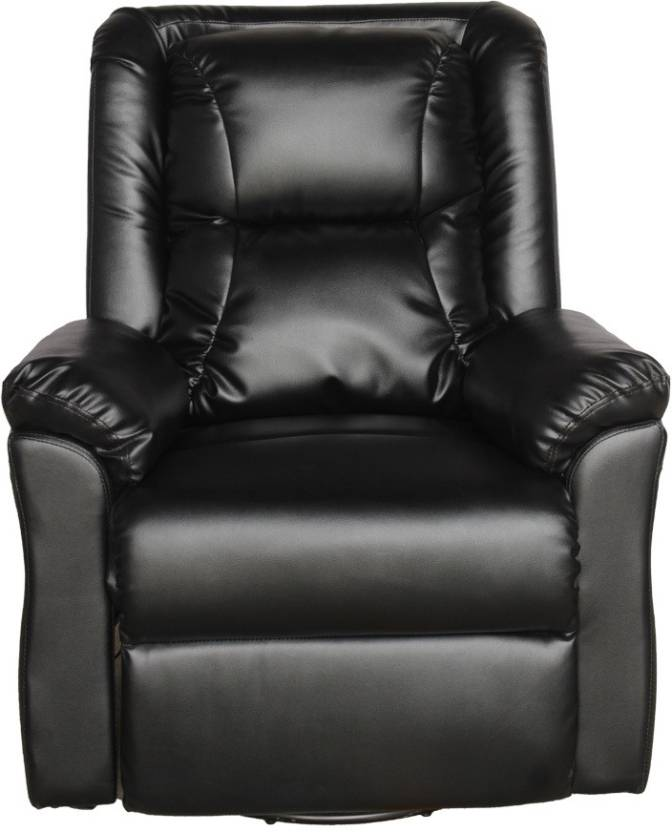 Woodness Leatherette Manual Swivel & Rocker Recliners