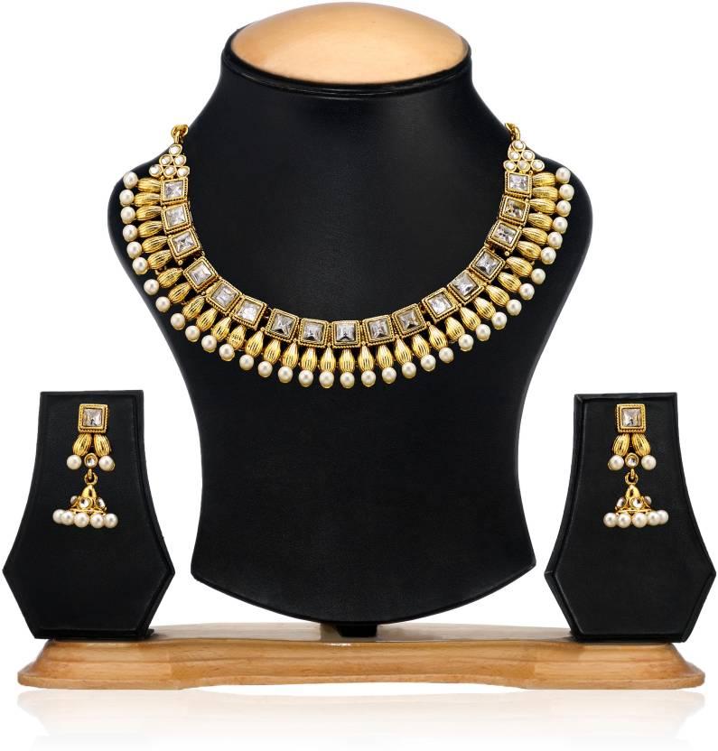 b066758508dbb Zaveri Pearls Zinc Jewel Set