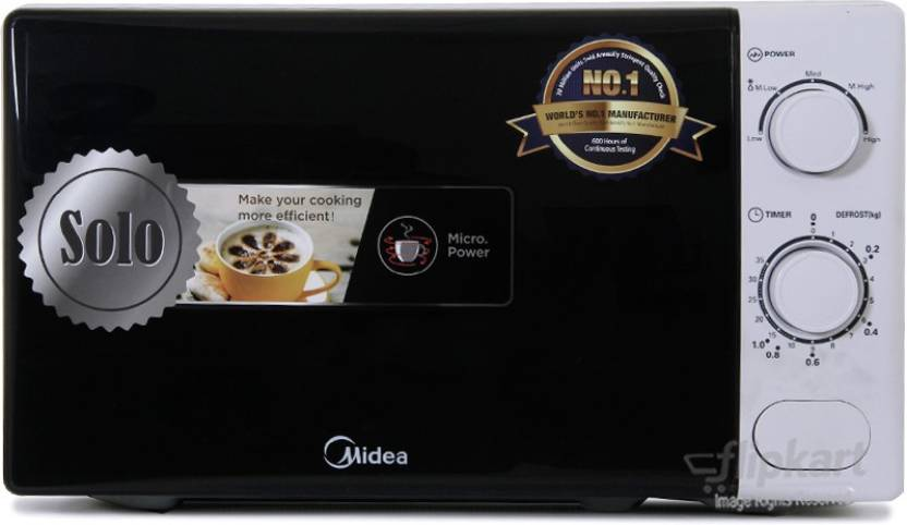Carrier Midea 20 L Solo Microwave Oven  (MM720CXM-PM, Black, White)