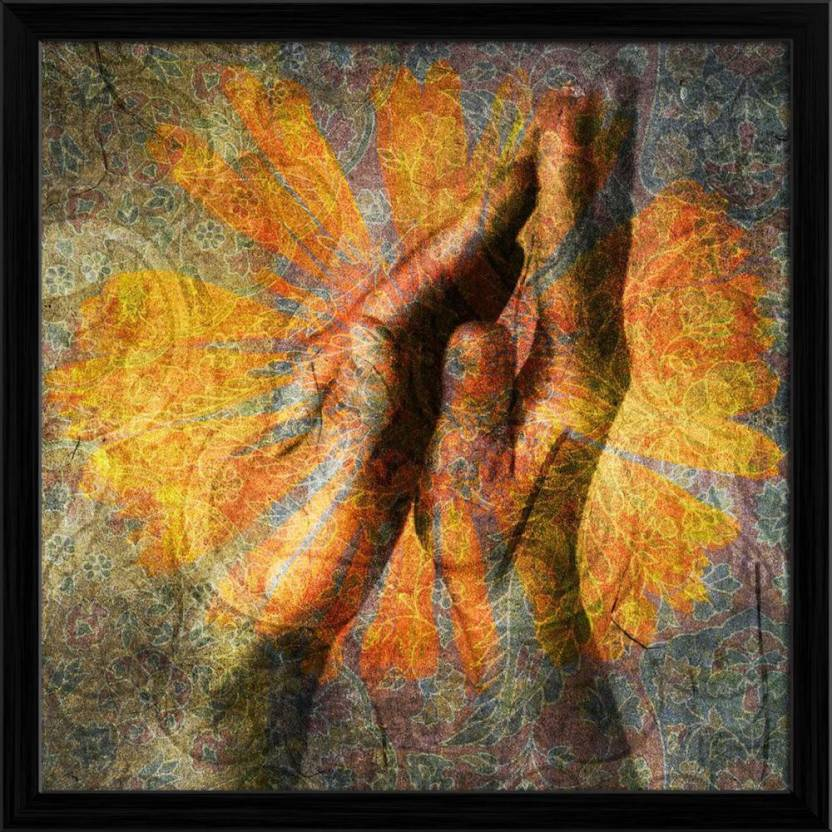 ArtzFolio Hands In Prayer Framed Wall Art Painting Print