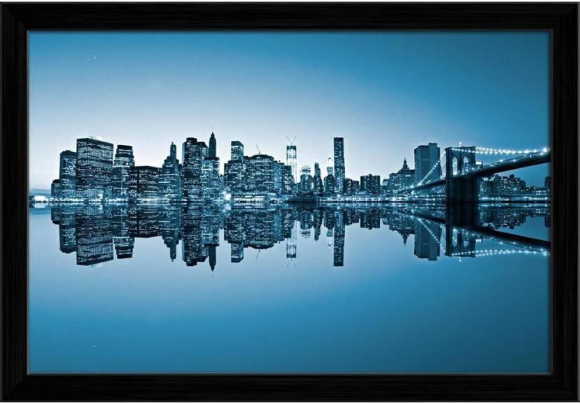 Artzfolio Brooklyn View Of Manhattan New York City Usa