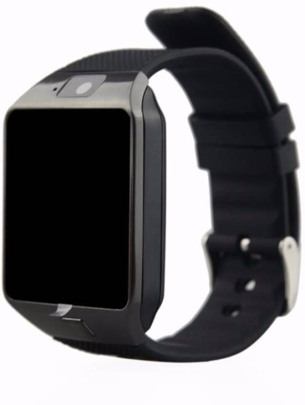 Benison India ™with SIM card, 32GB memory card slot, Bluetooth and Fitness Tracker Black Smartwatch