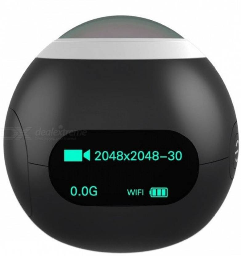 Microware SJCAM Action & Sports SJCAM SJ360 Panorama 2K Wi-Fi Mini Sports Action Camera Sports and Action Camera(Black 12.4 MP)