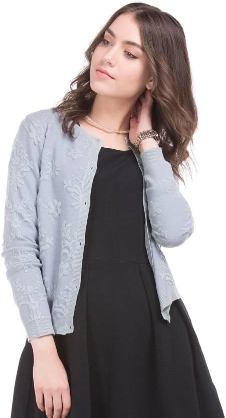 532544e5ab7 Arrow Woman Solid Round Neck Casual Women Grey Sweater - Buy Arrow ...