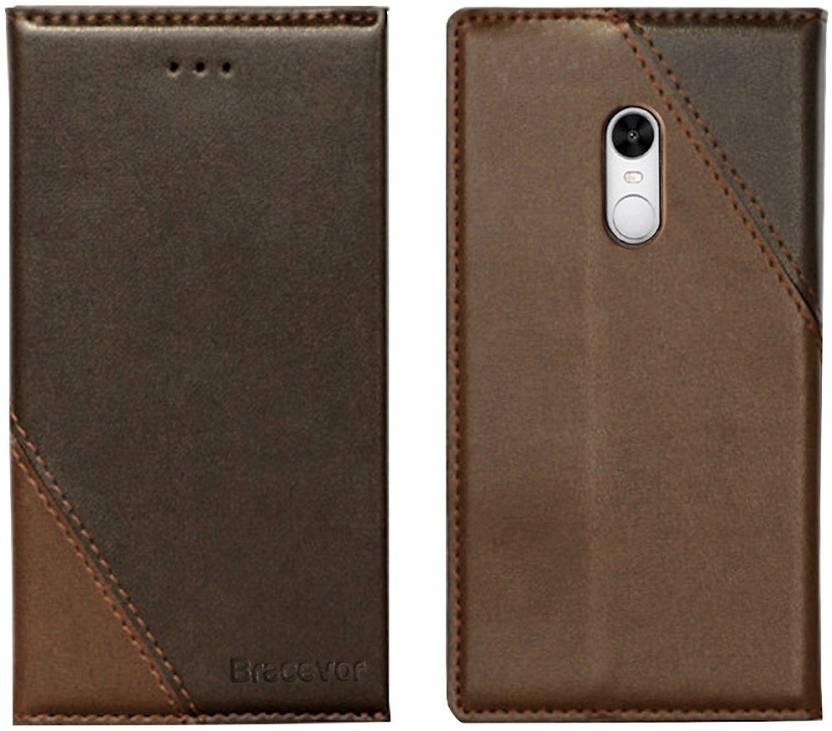wholesale dealer 11b14 d6cc7 Bracevor Flip Cover for Mi Redmi Note 4