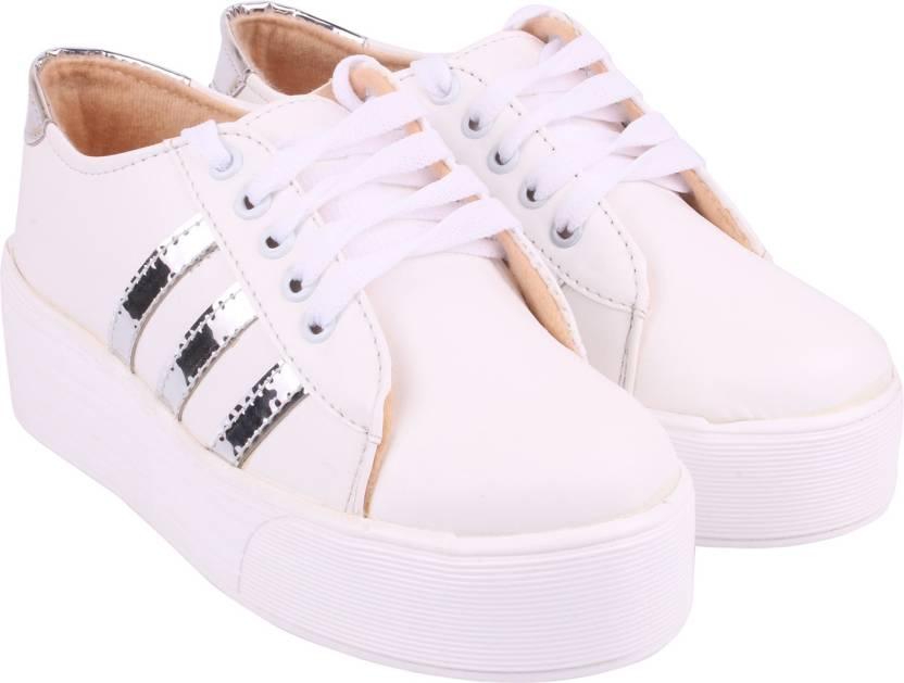 HMK Footwear HMK White Sneakers For Women Shoes Sneakers For Women (White) 375ee61d4a