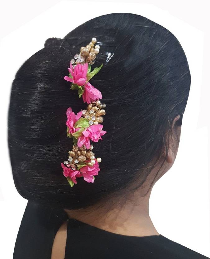 Majik Women Juda Flowers Clips Bun Clip Hair Pin Price In India