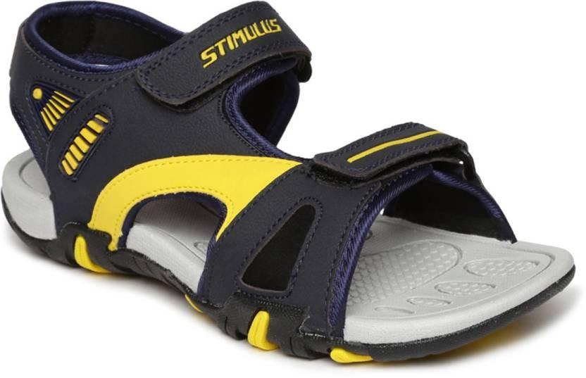 95eaa32874c2 Paragon Men Blue-Yellow Sandals - Buy Paragon Men Blue-Yellow Sandals  Online at Best Price - Shop Online for Footwears in India
