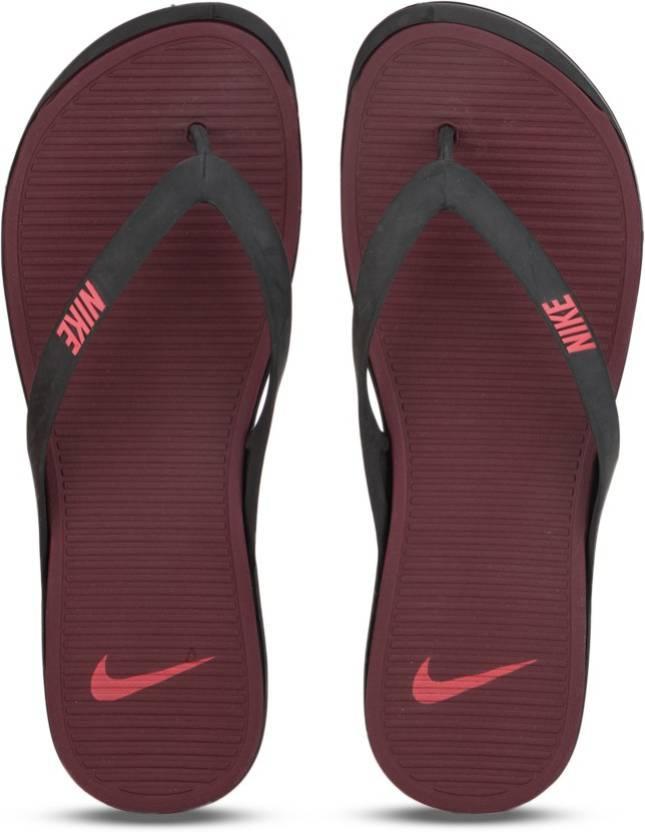 9a86c9dee9b Nike MATIRA THONG Flip Flops - Buy BLACK ACTION RED-NIGHT MAROON Color Nike  MATIRA THONG Flip Flops Online at Best Price - Shop Online for Footwears in  ...