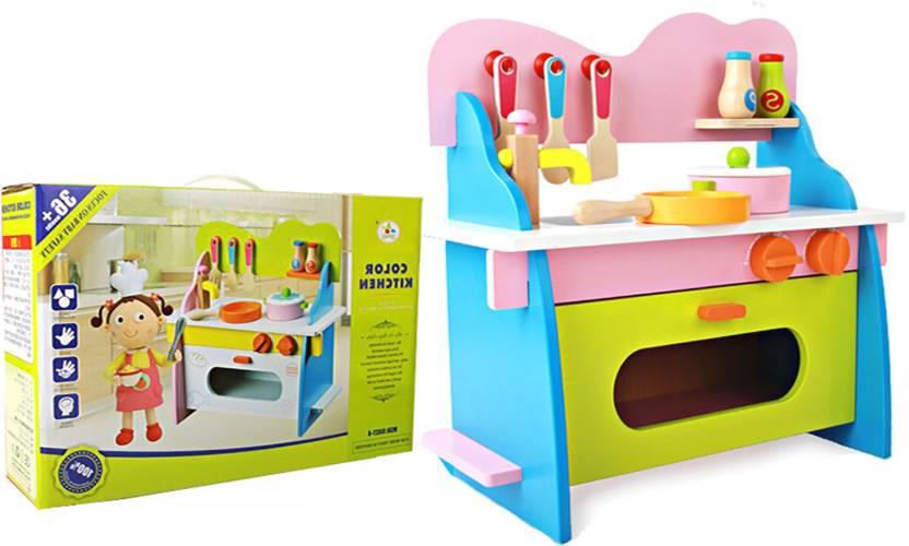 Jack Royal Solid Wooden Color Kitchen Set Solid Wooden Color